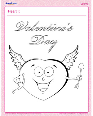 Heart It - Free Fun Kids' Coloring Page for Valentine's Day