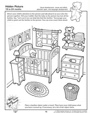 hidden picture free worksheet for kids - Toddler Activities Printables