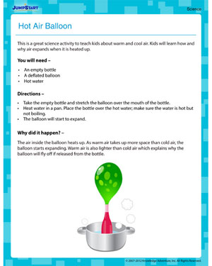Hot Air Balloon! - free activities on science