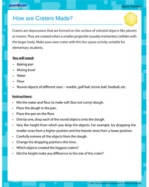 How are Craters Made? - Interesting Activity to Learn about Space