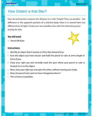 How Distant is that Star? - Fun Space Activity for Kids