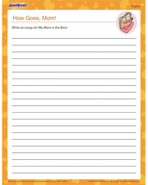 How Goes, Mom? – Worksheet for Mother's Day
