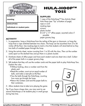 Hula-Hoop Toss - Free Math Worksheet for Kids