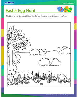 Did you see 'Hunting for Eggs?'- Free Easter Worksheet for Kids