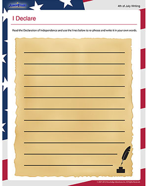 I Declare - Social Studies Worksheets for Elementary