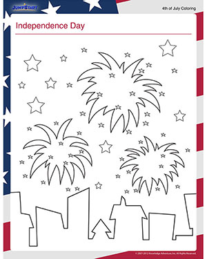 Independence Day – Free July 4th Coloring Page for Kids – JumpStart