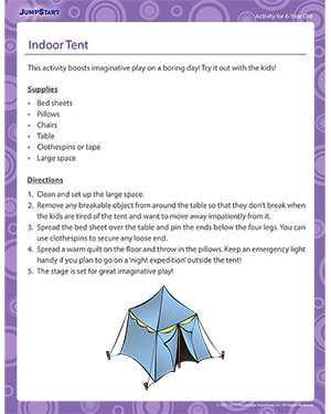 Indoor Tent - Activity for 6-year olds