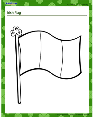 Irish Flag Fun St Patrick S Day Coloring Pages Jumpstart