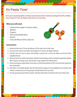 A It's Fiesta Time! - Free Cinco de Mayo activity for Kids
