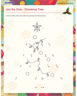 Join the Dots – Christmas Tree - Download Christmas Worksheet