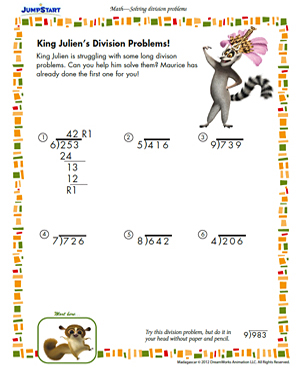 worksheets 3rd grade long division practice worksheets 3rd grade ...