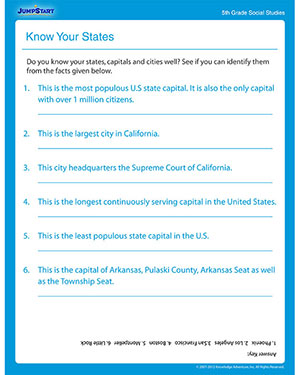 Printables Social Studies 5th Grade Worksheets know your states download free printable worksheets on fifth social studies worksheet
