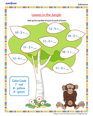 Leaves in the Jungle - 'Madagascar' movie based worksheet for kids