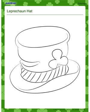 Leprechaun hat free leprechaun coloring page jumpstart for Leprechaun hat coloring page