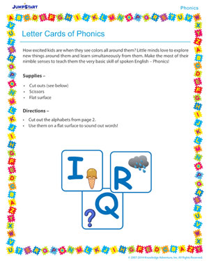 Letter Cards of Phonics - Phonics activity for kids