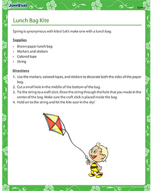 Lunch Bag Kite - spring craft