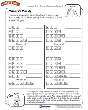 Maestro's Mix-up - Free English Worksheet for Kids