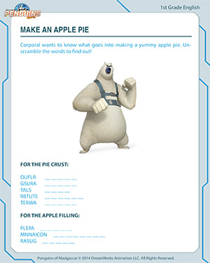 Make an Apple Pie - English Worksheet