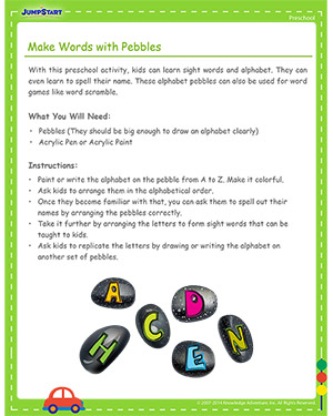 Make Words with Pebbles - Free Cinco de Mayo activity for Kids