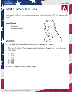Martin Luther Story Books - Free Activity on Martin Luther King Jr.