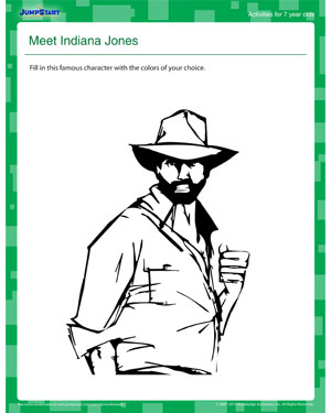 Meet Indiana Jones - Print and Play this Cool Summer Activity for 7 year olds!