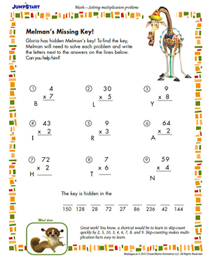 math worksheet : melman s missing key  free printable math worksheet  jumpstart : Thanksgiving Math Worksheets Free