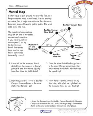 math worksheet : mental map  mental math worksheets and problems for kids  jumpstart : Mental Math Worksheets Grade 2