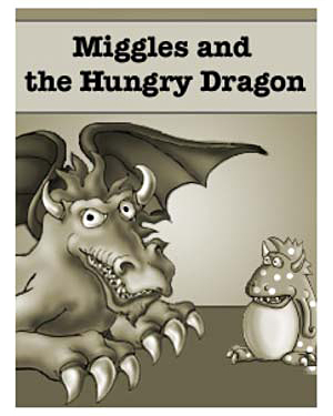 Miggles and the Hungry Dragon - Free Kindergarten Reading Worksheet