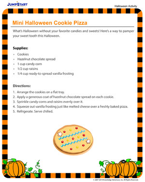 Mini Halloween Cookie Pizza - Fun Halloween Activities