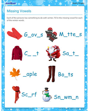 Printables Missing Vowel Worksheets missing vowel english worksheet for 2nd grade jumpstart vowel