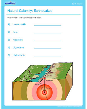 Worksheet Free Printable Earth Science Worksheets natural calamity earthquakes free printable earth science earthquakes