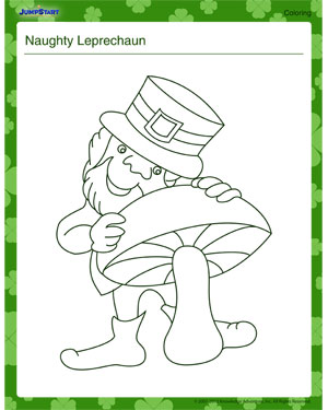 Naughty Leprechaun Fun Leprechaun Coloring Page For Kids