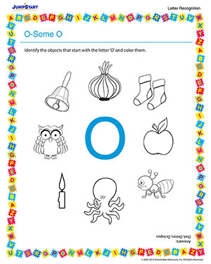 O-some O - Free Letter Recognition Worksheet for Preschool