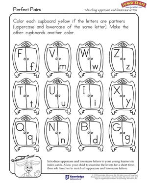Perfect Pairs – English Worksheet on Uppercase and Lowercase ...