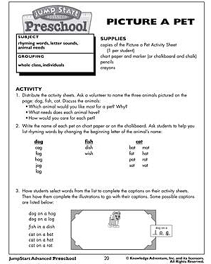 Picture a Pet - Free Worksheet for Kids
