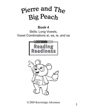 Pierre and the Big Peach - Free Reading Activity for Kids