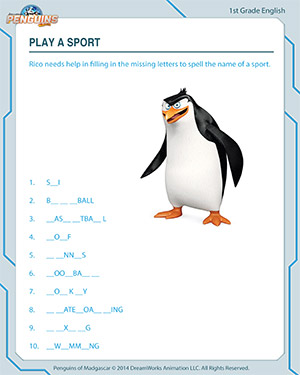 Play A Sport English Worksheets For Grade 1 Jumpstart