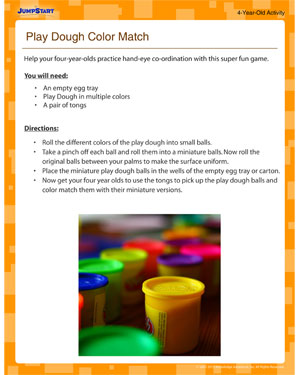 Play Dough Color Match - Play Dough Fun for Four Year Olds