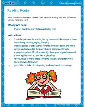 Reading Poetry - Printable Reading Activity