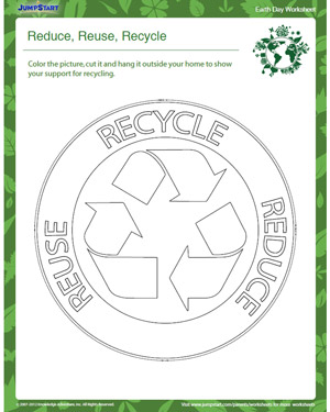 Worksheets Recycling For Kids Worksheets reduce reuse recycle free and printable earth day worksheet recycle