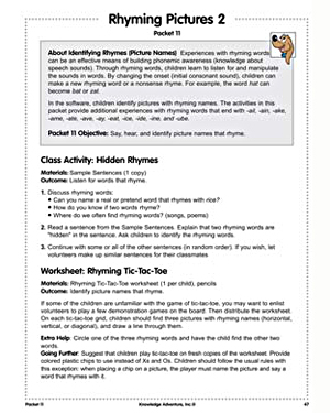 Rhyming Pictures 2 - Free Kindergarten English Worksheet