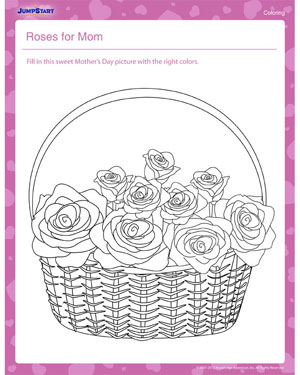 Roses For Mom Free Coloring Pages For Kids Jumpstart