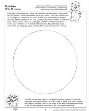 scribbles free printable toddler activity - Free Printable Toddler Activities Worksheets