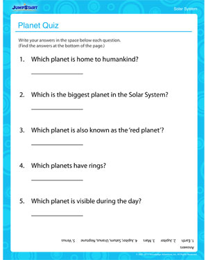 solar system quiz free solar system worksheets online jumpstart. Black Bedroom Furniture Sets. Home Design Ideas