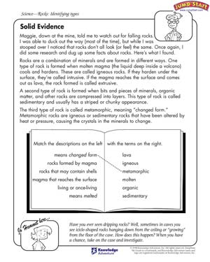 Solid Evidence - Free Science Worksheet for Kids