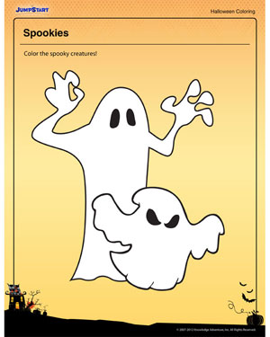 Spookies - Free Halloween Coloring Page for Kids