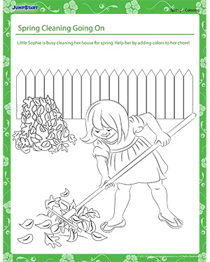 Spring Cleaning Going On - spring worksheet