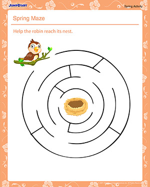 Spring Maze – Kindergarten Spring Activities