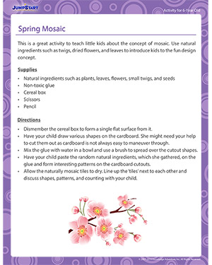 Spring Mosaic - Activity for 6-year olds