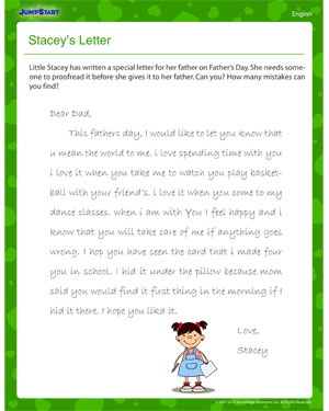 ... Letter – Fun Father's Day Punctuation Worksheet - JumpStart